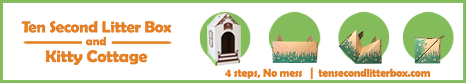 Ten Seconds Litter Box and Kitty Cottage